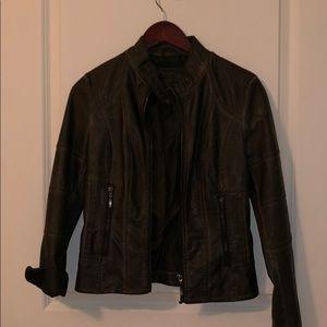 MSSP Vegan Leather Moto Jacket Sz XS